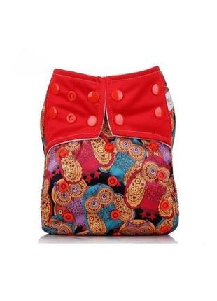 Многоразовый подгузник для девочки красные совы mumbest lux тренировочные трусики памперс
