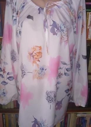 Легкая невесомая блузка баталл