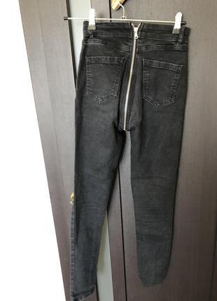 Скинни джинсы с молнией сзади