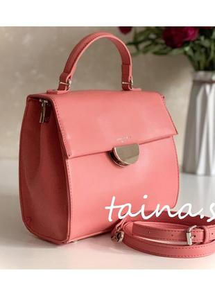 Актуальная малиновая сумка david jones td020 оригинал классический розовый клатч кроссбоди