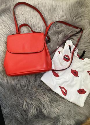 Рюкзак и футболка
