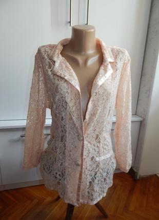 Boutique пиджак жакет гипюровый ажурный болеро р14