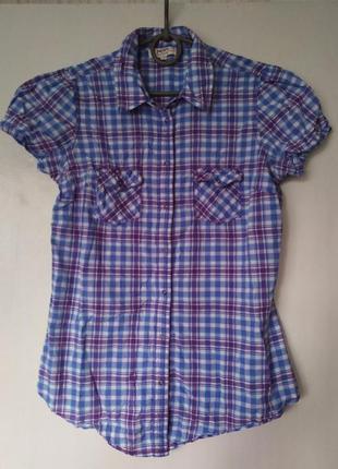Летняя нарядная хлопковая рубашка, блузка