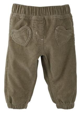 Вельветовые штаны 80 9-12 месяцев штанишки германия lupilu