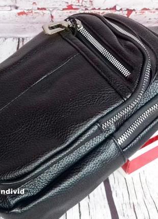 Акция! кожаный рюкзак jeep. мужская  сумка на плечо. мужская барсетка. кожаная бананка2 фото