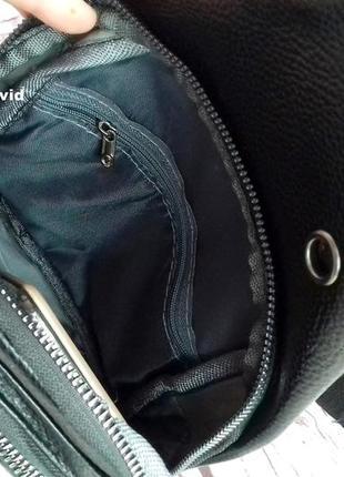 Акция! кожаный рюкзак jeep. мужская  сумка на плечо. мужская барсетка. кожаная бананка7 фото