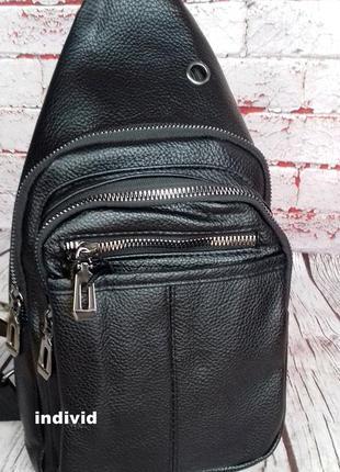 Акция! кожаный рюкзак jeep. мужская  сумка на плечо. мужская барсетка. кожаная бананка4 фото