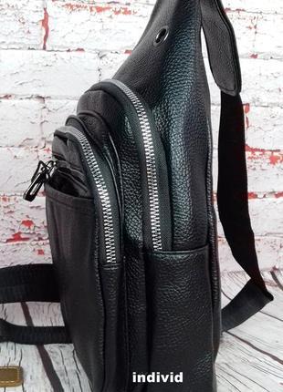 Акция! кожаный рюкзак jeep. мужская  сумка на плечо. мужская барсетка. кожаная бананка5 фото