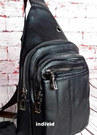 Акция! кожаный рюкзак jeep. мужская  сумка на плечо. мужская барсетка. кожаная бананка