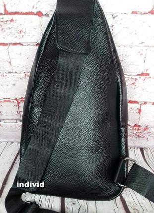 Акция! кожаный рюкзак jeep. мужская  сумка на плечо. мужская барсетка. кожаная бананка6 фото