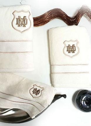 Полотенца, набор полотенец maison d'or 3шт alain cream (для мужчин)