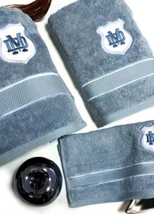 Полотенца, набор полотенец maison d'or 3шт alain blue (для мужчин)