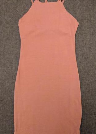Терракотовое платье по фигуре