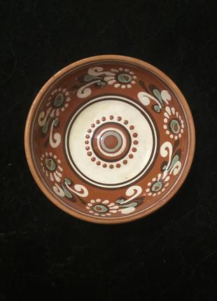 Старая керамическая миска тарелка керамика советская ссср