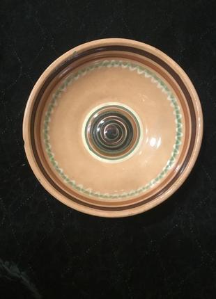 Старая керамическая тарелка миска керамика советская ссср
