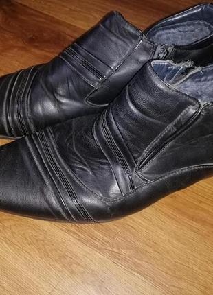 🔥мужские зимние туфли, ботинки 43 р. ava caro🔥