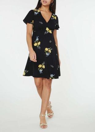 Платье в цветы размер 12