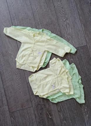 Комбинезоны детские, для новорождённого.  набор одежды. размер: 56-74 см. хлопок