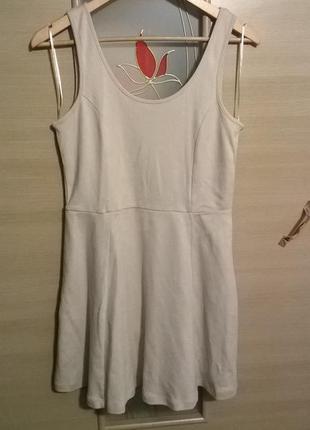 Трикотажное летнее платье нюд беж stradivariusраспродажа см другие вещи - много интересного