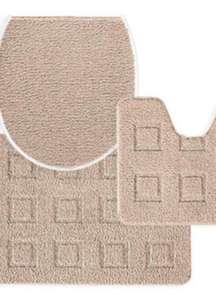Набор из 3х ковриков с мягким и пушистым ворсом tukan германия