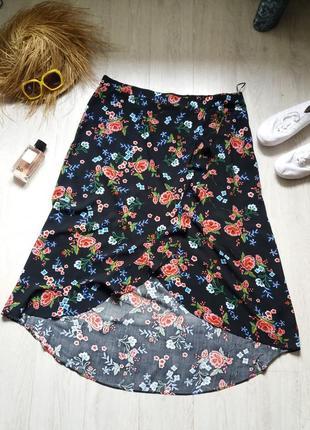 Цветочная юбка на запах 20р peacocks
