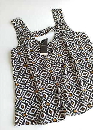 Красивая стильная летняя блуза / маечка 100% вискоза