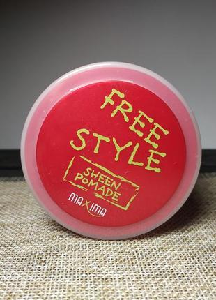 Моделирующая помада для укладки волос maxima free style sheen pomade