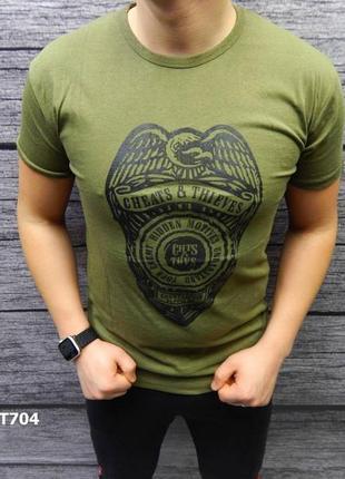 Акция скидка футболка стрейч-коттон есть другие цвета и размеры