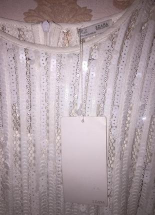 Платье паетками zara collection