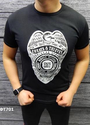 Акция скидка футболка стрейч-коттон есть размеры и цвета