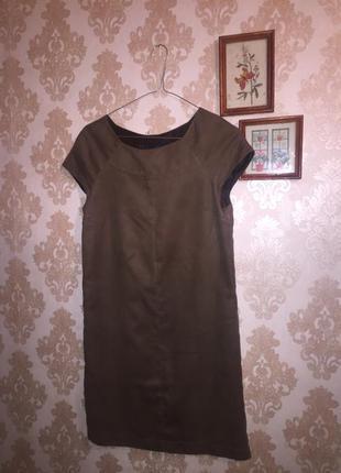 Платье из замши zara basic