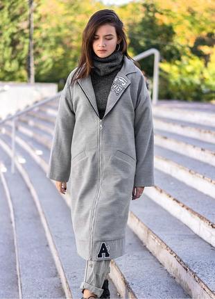 Пальто кашемировое на молнии