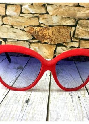 Солнцезащитные очки в бархатной оправе