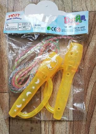 Скакалка м 5483 детская для детей светится светящаяся скакалка