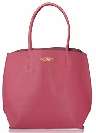 Распродажа летней коллекции. женскаская кожаная сумка poolparty pearl фуксия, розовая