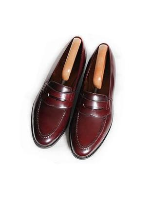 Кожаные туфли crockett jones лоферы оригинал англия