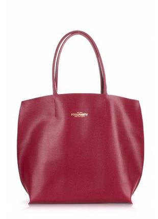 Великолепная женская сумка poolparty pearl вишневая