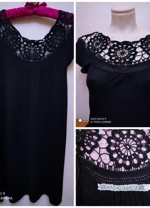 Cindstory шикарное брендовое летнее платье с кружевом фриволите, р. s/m