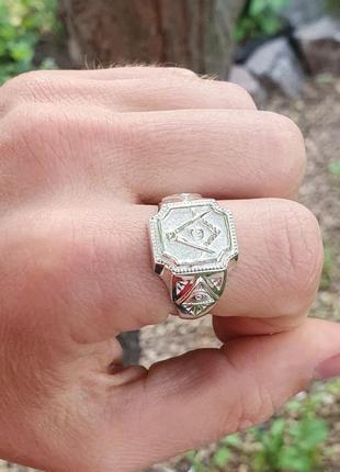 Кольцо масона из серебра