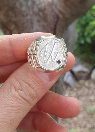 Именная печатка из серебра