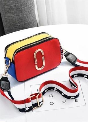 Хит продаж! модная женская сумка через плечо/сумка кросс боди под marc jacobs.7 фото