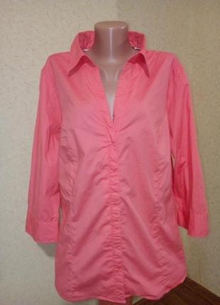 Котоновая стрейчевая рубашка