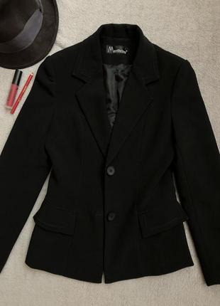 Качественный чёрный пиджак manthrine
