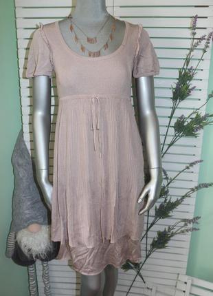 Пудровое платье moschino