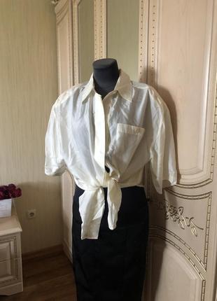 Тренд! шелковая объёмная рубаха рубашка оверсайз, бойфренд, натуральный шёлк шелк