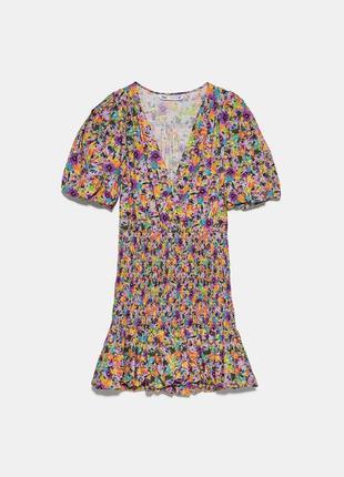 Платье с цветочным принтом zara