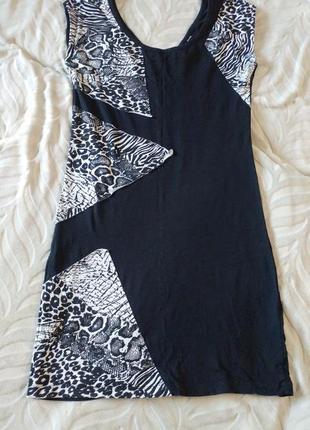 Трикотажное платье с леопардовым принтом dorothy perkins