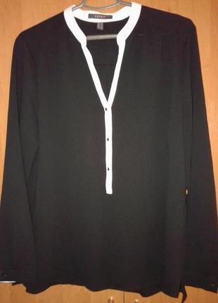 Блуза чорна з білим