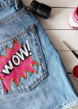 Суперские шорты с ручной росписью