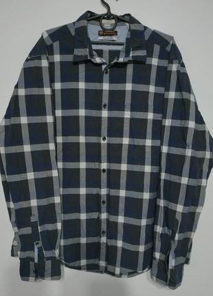 Xl xxl 52 54 сост нов esprit рубашка в клетку мужская походная туристическая casual кэжуал